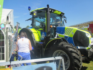Police Tractor at Suffolk Show